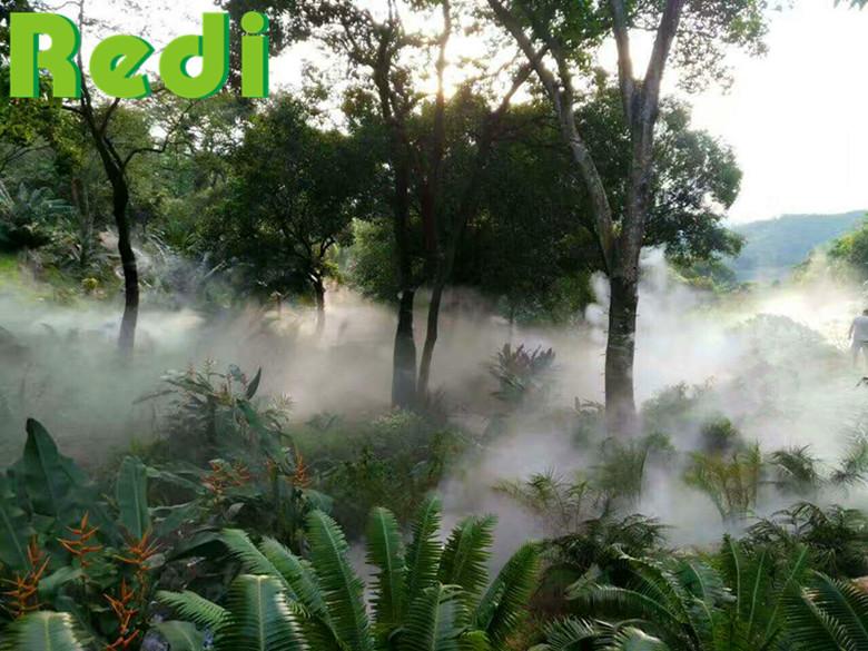 公园喷雾造景降温系统